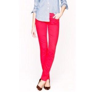 EUC J. Crew Red Matchstick Pants Women's Size 32